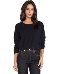 Textile Elizabeth and James - Distressed Perfect Sweatshirt - Lyst