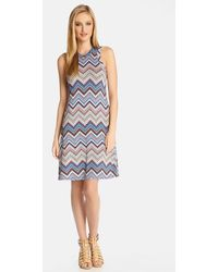 Karen Kane 'Miami Zigzag' Sleeveless A-Line Dress multicolor - Lyst