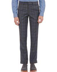 Barneys New York Glen Plaid Cuffed Trousers black - Lyst