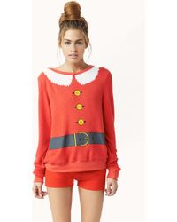 Wildfox Santa and Elf Sweater - Lyst