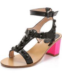 Markus Lupfer Embellished City Sandals - Black - Lyst
