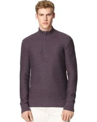 Calvin Klein Rib Trim Pullover - Lyst