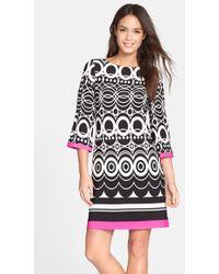 Eliza J | Print Jersey A-line Dress | Lyst