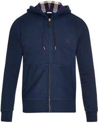 Burberry Brit Pearce Hooded Zip-Up Jersey Sweatshirt blue - Lyst