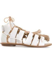 Loeffler Randall White 'Sierra' Sandals - Lyst