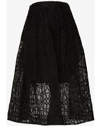 Nicholas Organza Lace Mid Length Skirt - Lyst