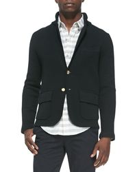 Band Of Outsiders Golden-button Sweater Jacket - Lyst