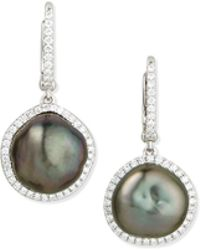 Eli Jewels - Tahitian Pearl & Diamond Drop Earrings - Lyst