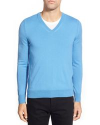 Burberry Brit - 'dockley' V-neck Wool Sweater - Lyst