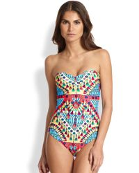 Mara Hoffman One-Piece Braided-Back Swimsuit - Lyst