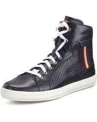 Bally Olir Perforated Leather High-top Sneaker - Lyst