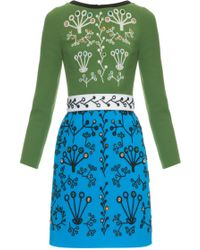 Peter Pilotto | Cari Crystal-embellished Mini Dress | Lyst