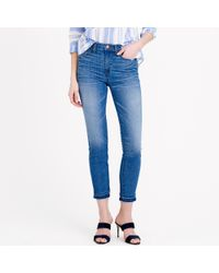 J.Crew Lookout High-Rise Crop Jean With Let-Out Hem In Hayton Wash - Lyst