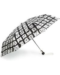Marc By Marc Jacobs 'stacked Logo' Umbrella - Black