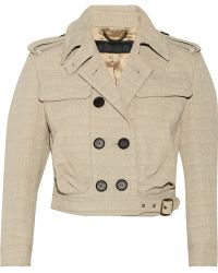 Burberry Prorsum Cropped Textured Shell Jacket - Lyst