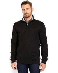Izod Embroidered Logo Quarter-Zip Sweater - Lyst