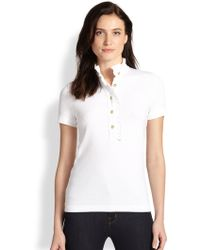 Tory Burch Lidia Ruffled Polo Shirt - Lyst