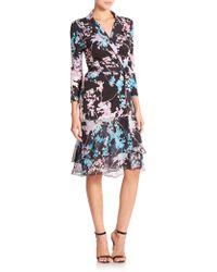 Diane von Furstenberg Cathy Floral Daze Wrap Dress - Blue
