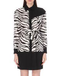 Emanuel Ungaro Zebra-Print Silk Shirt - Lyst