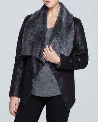 Karen Kane Faux Shearling Jacket - Lyst