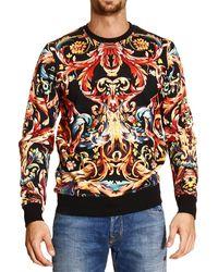 Roberto Cavalli - Just Cavalli Sweater Fleece Crewneck Saintes Maries Print - Lyst