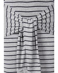 Missguided Tie Waist Mini Skirt Grey Marl - Lyst