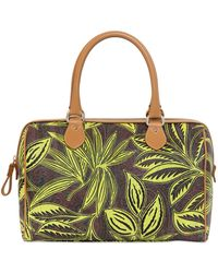 Etro Paisley & Palm Printed Coated Canvas Bag - Lyst