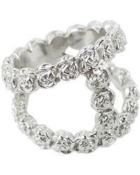 Smith/grey Double Tiny Roses Ring Silver - Metallic