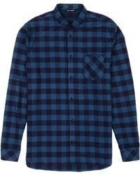 Won Hundred Norton Plaid Shirt blue - Lyst