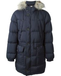 Burberry Brit Racoon Fur Trimmed Coat - Lyst
