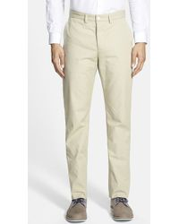 Haspel - Flat Front Cotton Trousers - Lyst