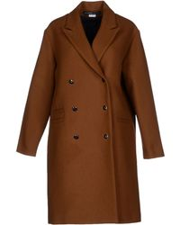 Les Prairies de Paris Coat brown - Lyst