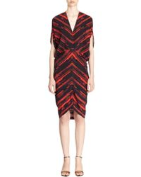Zero + Maria Cornejo Printed Silk Reni Dress - Lyst