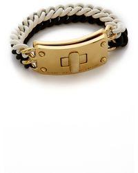 Marc By Marc Jacobs Lock-In Rubberized Bracelet - Black Multi - Lyst