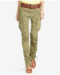 Polo Ralph Lauren Twill Cargo Skinny Pants - Green