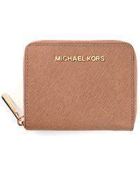 MICHAEL Michael Kors All Around Zipper Wallet - Lyst