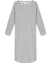 American Vintage Stripe Dress black - Lyst