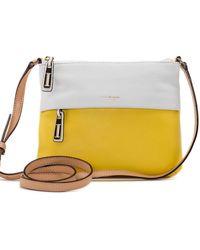 Isaac Mizrahi New York Helen Leather Crossbody Bag - Lyst