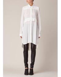 Ann Demeulemeester | Black Leather Silk Trousers | Lyst