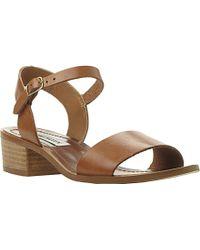 Steve Madden Dense Leather Block Heel Sandals - For Women - Lyst