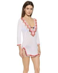Milly Zigzag Mirrored Paillettes Cover Up - Fluo Pink - Lyst
