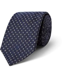 Turnbull & Asser Micro Dotpatterned Cashmere Wool and Silkblend Tie - Lyst