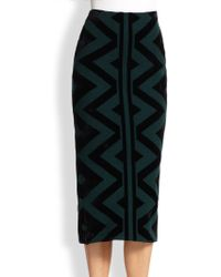 Burberry Prorsum Knit Blanket Pencil Skirt - Lyst
