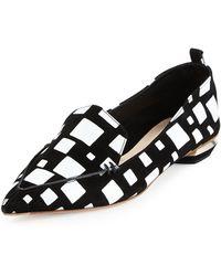 Nicholas Kirkwood   Beya Cube-Print Leather Loafers    Lyst