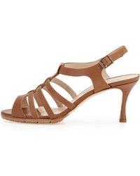 Manolo Blahnik Guillerin Strappy Leather Sandal - Lyst