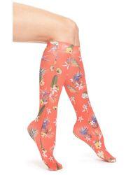 Strathcona - 'fruit Punch' Print Knee High Trouser Socks - Coral - Lyst