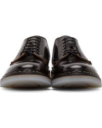 OAMC - Black Leather Officer Heschung Edition Derby Shoes - Lyst