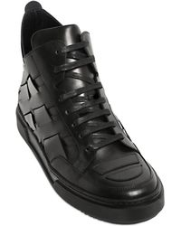 Alejandro Ingelmo - Patent & Leather High Top Trainers - Lyst