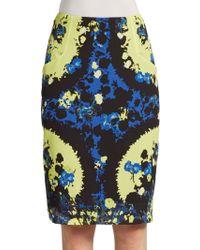 Erdem Frida Printed Silk Pencil Skirt - Lyst