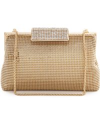 Whiting & Davis Crystal Clasp Clutch - Gold - Lyst